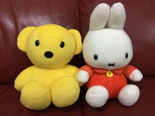 "90s Miffy & Friend Set 7"" tall"