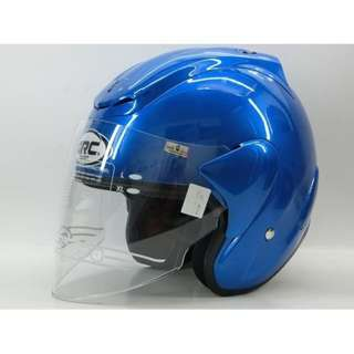 ARC RITZ PLAIN SHINING HELMET (BLUE)