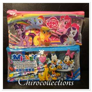 My Little Pony and Mickey Mouse School Supplies