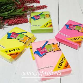 Neon Sticky Notepad Set