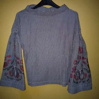 Top Sabrina Dark Grey