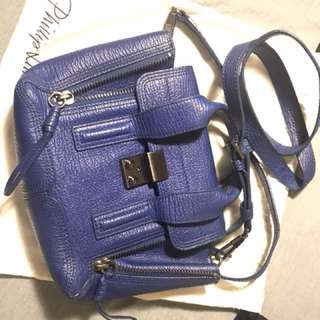 3.1 Phillip Lim cobalt pashli mini satchel