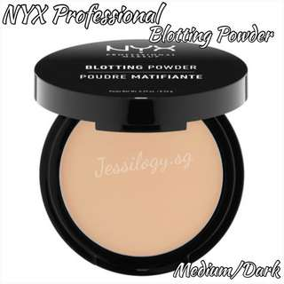 INSTOCK NYX Professional Blotting Powder in MEDIUM/DARK / NYX Cosmetics Blotting Powder in BLP03 MEDIUM DARK