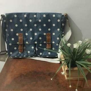 Polka Dot Print Shoulder Bag