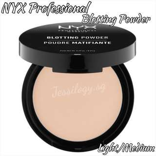 INSTOCK NYX Professional Blotting Powder in LIGHT/MEDIUM / NYX Cosmetics Blotting Powder in BLP02 LIGHT MEDIUM