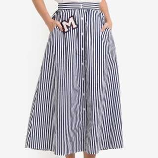 BNWT Mango Patch Striped Skirt OOS