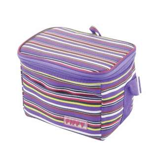 FIFFY Foldable Cooler Bag (Purple Line)