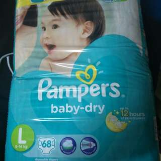 Pampers Dry Large