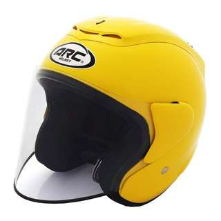 ARC RITZ PLAIN SHINING HELMET (YELLOW)