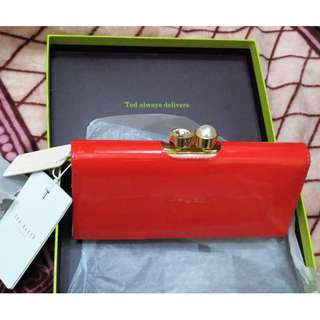 [New with Tags, in Box] Ted Baker Patent Leather Matinee Purse/Dompet in Burnt Orange