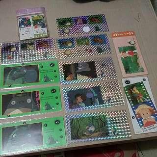 絕版 龍貓 龙猫 閃爍相紙書簽 七巧星書簽 閃貼紙 迷你書簽 Totoro Shining Bookmark Mini Bookmark