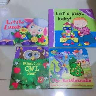 Bundling 4 board book anak / flip flap