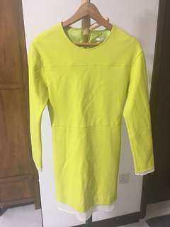 Lime green sweater dress