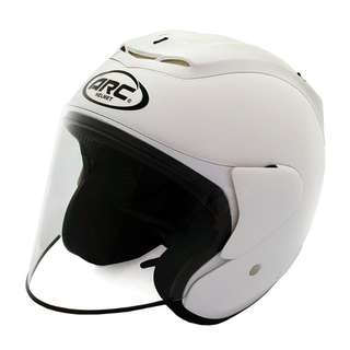 ARC RITZ PLAIN SHINING HELMET (WHITE)