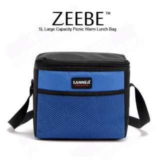 ZEEBE 5L Large Insulated Thermal Lunch Box (Blue)