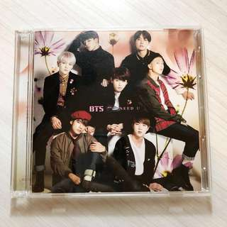 Official BTS I NEED U Japanese Album CD and DVD