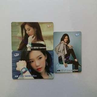 少女時代 彩簽 Yes Card (太妍,徐玄,潤娥)