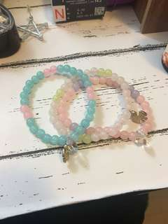 Very new 夜光 neon colour bracelets set 包郵