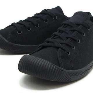 全新轉賣 PALLADIUM FLEX LACE 全黑休閒帆布鞋 女款38號
