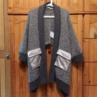 Sacai luck wool cape coat