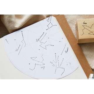 PO#22 Constellation Wooden Stamp