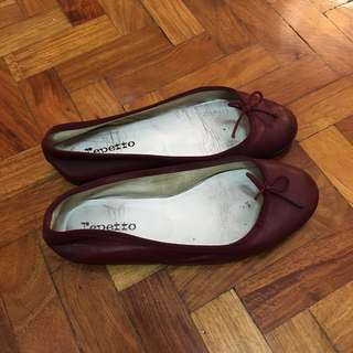 Repetto maroon flats