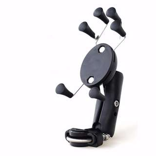 Black Handlebar X-Grip Cell Phone Holder for Handphone for motorcycle escooter bicycle