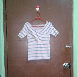 Atasan Pink Stripe