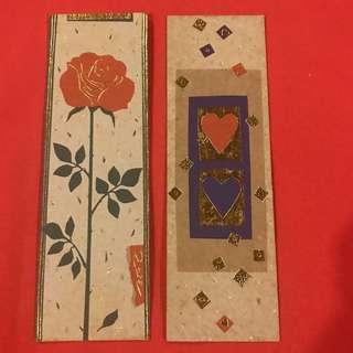 Turnowsky's Art Bookmarks gold gilt embossed set of 2