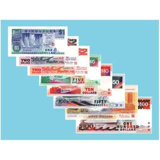 Singapore Ship series $1 - $100 Set
