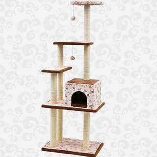 [REDUCED TO CLEAR] Luxurious High Quality 4 Tiers 1 House Cat Condo (1.57m) (LWS160009)