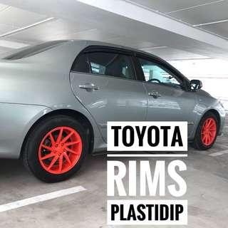 Toyota Altis Plastidip Mobile Service Plasti Dip