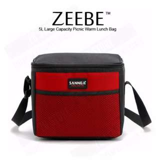 ZEEBE 5L Large Insulated Thermal Lunch Box (Red)