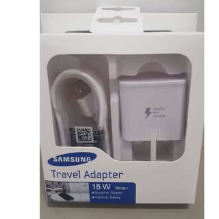 Original Samsung Charger (3 Pins UK) with Charging Cable