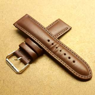 24mm/22mm Brown Leather Strap