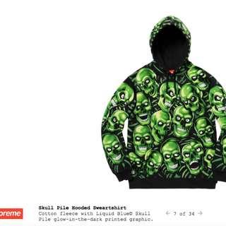 Supreme Skull Pile Hooded Sweatshirt / Hoodie & Sweatpant