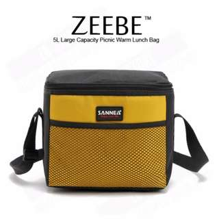ZEEBE 5L Large Insulated Thermal Lunch Box (Yellow)