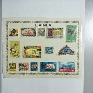 E. Africa stamps