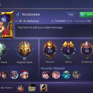 Mobile legend account!