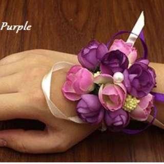 Wrist Corsages - Purple