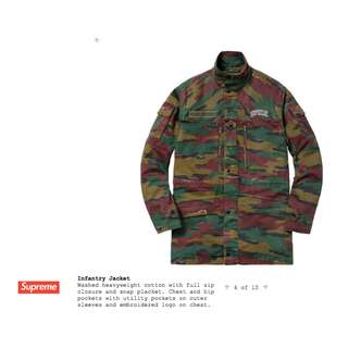 Supreme Infantry Jacket Camo