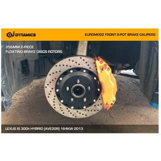 CJ DYNAMICS 356MM BRAKE DISCS ROTORS FOR EUROMODZ BRAKE CALIPERS