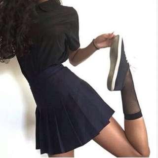 American Apparel Navy Tennis Skirt M