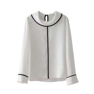 🔥Spring Loose Lanky Sleeve Hem Blouse Shirt