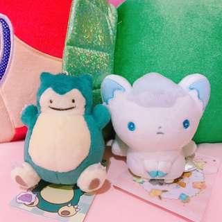 🚚 🎀日本 神奇寶貝中心代購 百變卡比吊飾 冰六尾