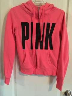 2 PINK zip hoodies
