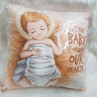 CDO 30cm Religious Orange Pillow Baby Jesus Nativity