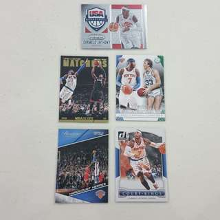 Legit Used Carmelo Anthony Lot Set Of 11 NBA Cards
