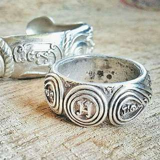 LP Kalong Magic Ring (Made from Ancient Thai Silver Coins)