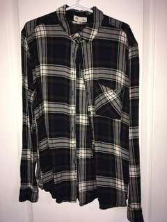 Black, green & red flannel